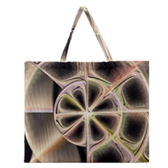 Background With Fractal Crazy Wheel Zipper Large Tote Bag by Simbadda