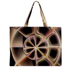 Background With Fractal Crazy Wheel Medium Zipper Tote Bag by Simbadda