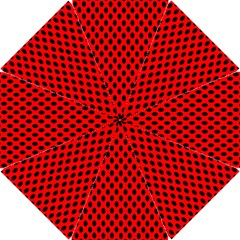 Polka Dot Black Red Hole Backgrounds Hook Handle Umbrellas (small) by Mariart
