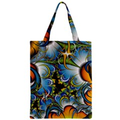 High Detailed Fractal Image Background With Abstract Streak Shape Zipper Classic Tote Bag by Simbadda