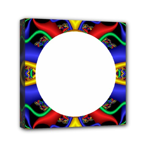 Symmetric Fractal Snake Frame Mini Canvas 6  X 6  by Simbadda