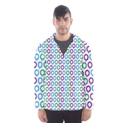Polka Dot Like Circle Purple Blue Green Hooded Wind Breaker (men) by Mariart
