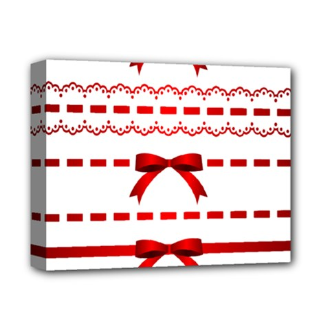 Ribbon Red Line Deluxe Canvas 14  X 11  by Mariart