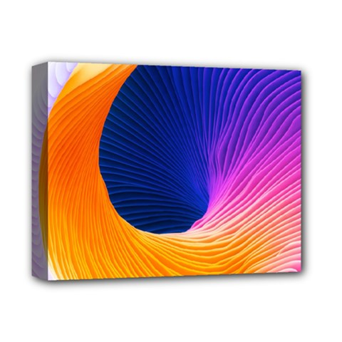 Wave Waves Chefron Color Blue Pink Orange White Red Purple Deluxe Canvas 14  X 11  by Mariart