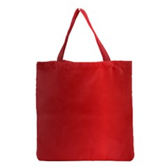 Red Gradient Fractal Backgroun Grocery Tote Bag