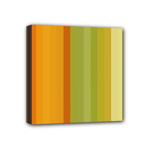 Colorful Citrus Colors Striped Background Wallpaper Mini Canvas 4  X 4  by Simbadda