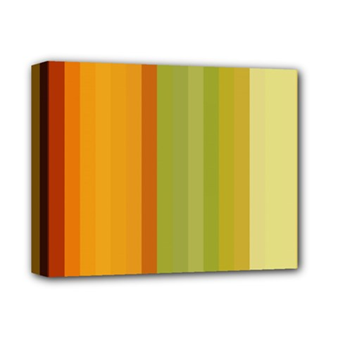 Colorful Citrus Colors Striped Background Wallpaper Deluxe Canvas 14  X 11  by Simbadda