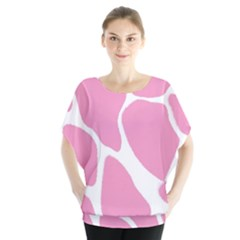 Baby Pink Girl Pattern Colorful Background Blouse by Simbadda
