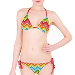 Colorful Background Of Chevrons Zigzag Pattern Bikini Set