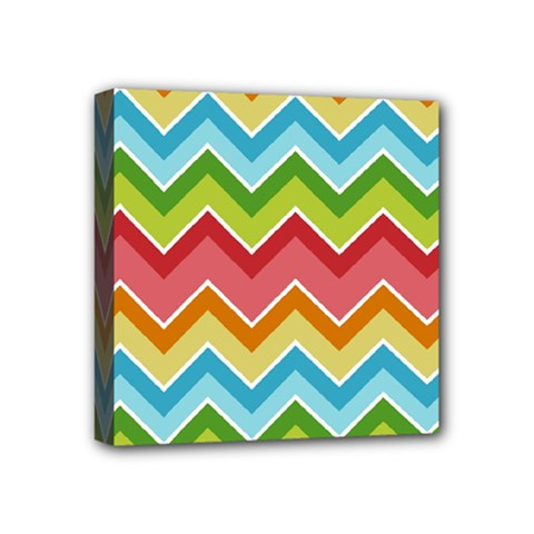 Colorful Background Of Chevrons Zigzag Pattern Mini Canvas 4  X 4  by Simbadda