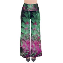 Pink And Green Shapes Make A Pretty Fractal Image Pants by Simbadda