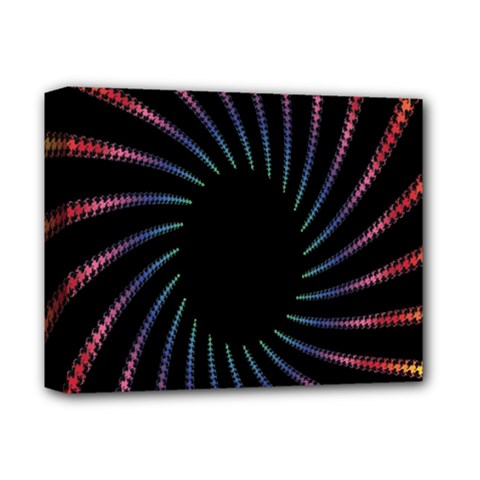 Fractal Black Hole Computer Digital Graphic Deluxe Canvas 14  X 11  by Simbadda