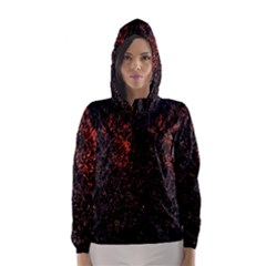July 4th Fireworks Party Hooded Wind Breaker (women) by Simbadda