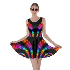 Fractal Drawing Of Phoenix Spirals Skater Dress