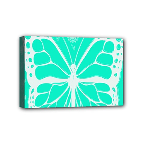 Butterfly Cut Out Flowers Mini Canvas 6  X 4  by Simbadda