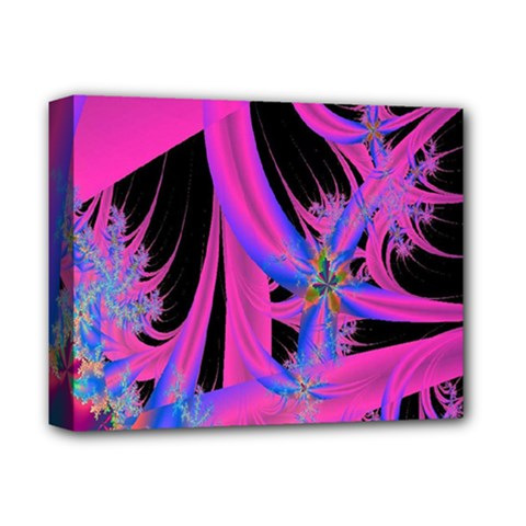 Fractal In Bright Pink And Blue Deluxe Canvas 14  X 11  by Simbadda