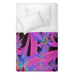 Fractal In Bright Pink And Blue Duvet Cover (Single Size)