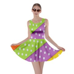 Colorful Easter Ribbon Background Skater Dress by Simbadda