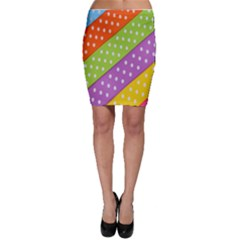 Colorful Easter Ribbon Background Bodycon Skirt by Simbadda