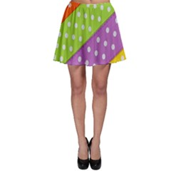 Colorful Easter Ribbon Background Skater Skirt by Simbadda