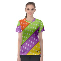 Colorful Easter Ribbon Background Women s Sport Mesh Tee by Simbadda