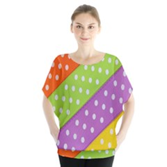 Colorful Easter Ribbon Background Blouse by Simbadda