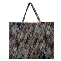 Abstract Chinese Background Created From Building Kaleidoscope Zipper Large Tote Bag by Simbadda
