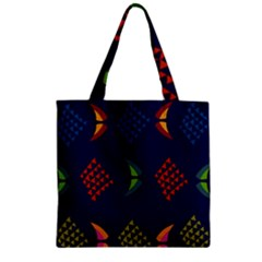 Abstract A Colorful Modern Illustration Zipper Grocery Tote Bag by Simbadda