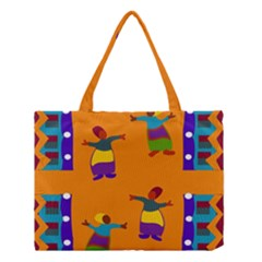 A Colorful Modern Illustration For Lovers Medium Tote Bag by Simbadda
