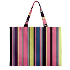 Seamless Colorful Stripes Pattern Background Wallpaper Zipper Mini Tote Bag by Simbadda