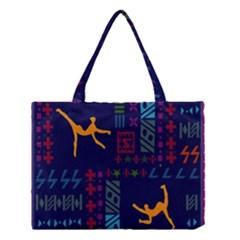 A Colorful Modern Illustration For Lovers Medium Tote Bag by Simbadda