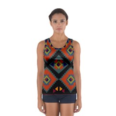Abstract A Colorful Modern Illustration Women s Sport Tank Top