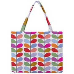 Colorful Bright Leaf Pattern Background Mini Tote Bag by Simbadda