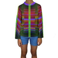 Galileo Galilei Reincarnation Abstract Character Kids  Long Sleeve Swimwear by Simbadda