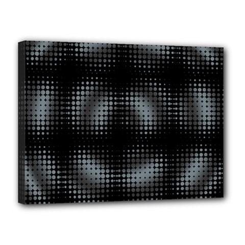 Circular Abstract Blend Wallpaper Design Canvas 16  X 12  by Simbadda