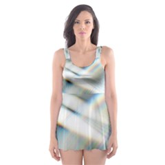 Business Background Abstract Skater Dress Swimsuit by Simbadda