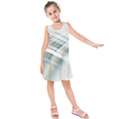 Business Background Abstract Kids  Sleeveless Dress by Simbadda