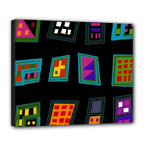 Abstract A Colorful Modern Illustration Deluxe Canvas 24  X 20   by Simbadda