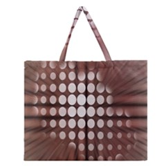 Technical Background With Circles And A Burst Of Color Zipper Large Tote Bag by Simbadda