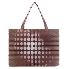 Technical Background With Circles And A Burst Of Color Medium Zipper Tote Bag by Simbadda