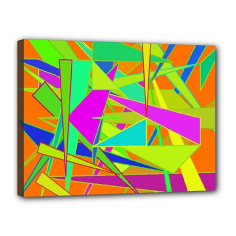 Background With Colorful Triangles Canvas 16  X 12  by Simbadda