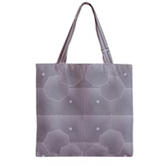 Grid Squares And Rectangles Mirror Images Colors Zipper Grocery Tote Bag by Simbadda