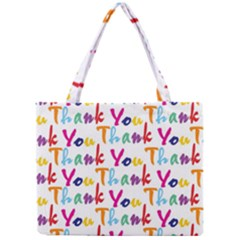 Wallpaper With The Words Thank You In Colorful Letters Mini Tote Bag by Simbadda
