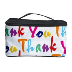 Wallpaper With The Words Thank You In Colorful Letters Cosmetic Storage Case by Simbadda