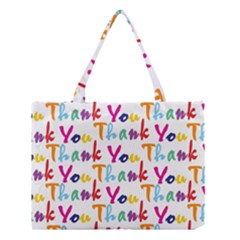 Wallpaper With The Words Thank You In Colorful Letters Medium Tote Bag by Simbadda