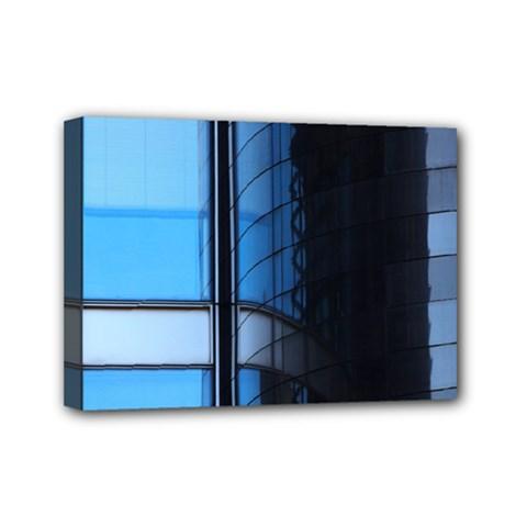 Modern Office Window Architecture Detail Mini Canvas 7  X 5  by Simbadda