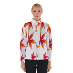 Colorful Autumn Leaves On White Background Winterwear by Simbadda