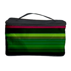 Multi Colored Stripes Background Wallpaper Cosmetic Storage Case by Simbadda