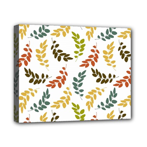 Colorful Leaves Seamless Wallpaper Pattern Background Canvas 10  X 8  by Simbadda