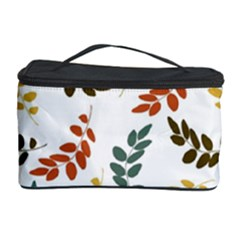 Colorful Leaves Seamless Wallpaper Pattern Background Cosmetic Storage Case by Simbadda